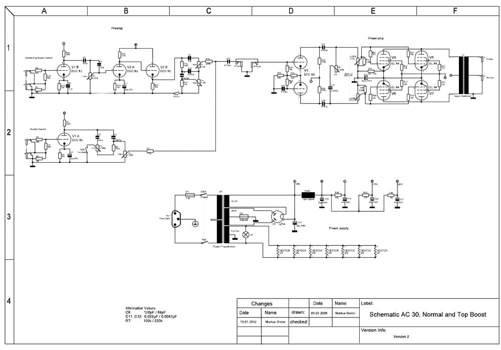 Schaltplan – Selbstbau eines AC30